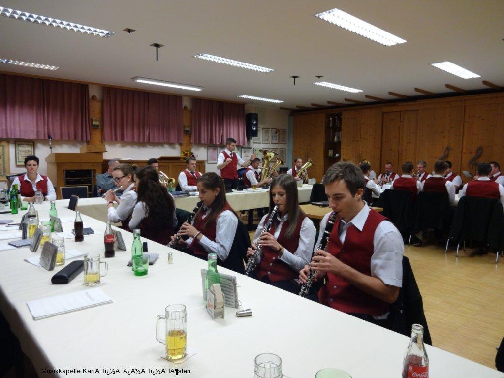 Jahreshauptversammlung der Musikkapelle